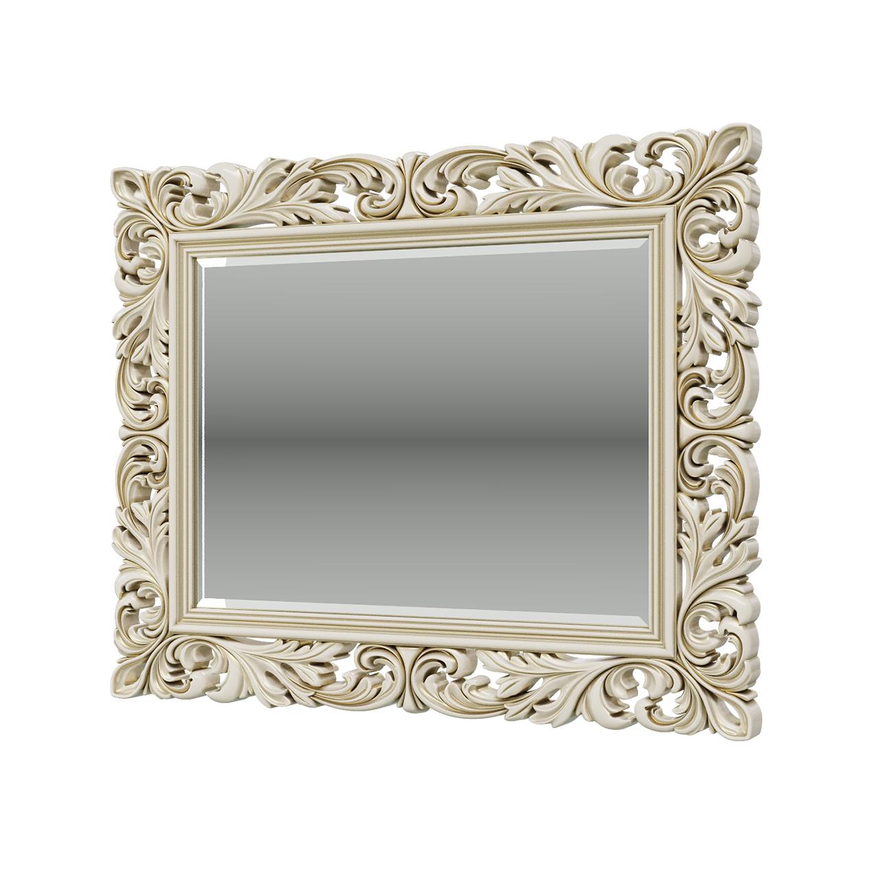 Зеркало Мэри-Мебель ЗК-04 слоновая кость, 108х6х88 см фото