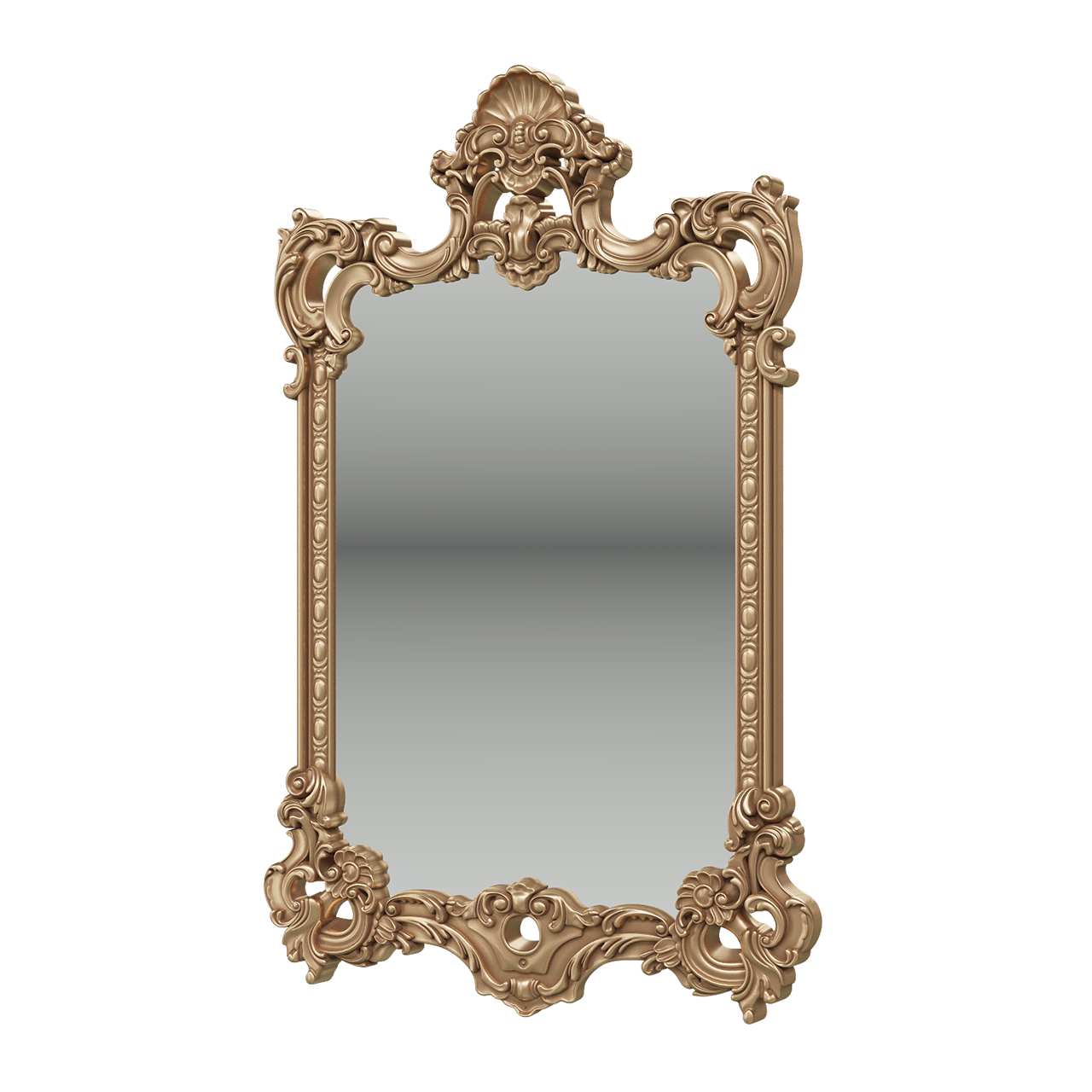 Зеркало Мэри-Мебель ЗК-02 золото, 75х8х118 см фото