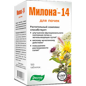 Милона-14 для почек и мочевыводящих путей Эвалар таблетки 100 шт.