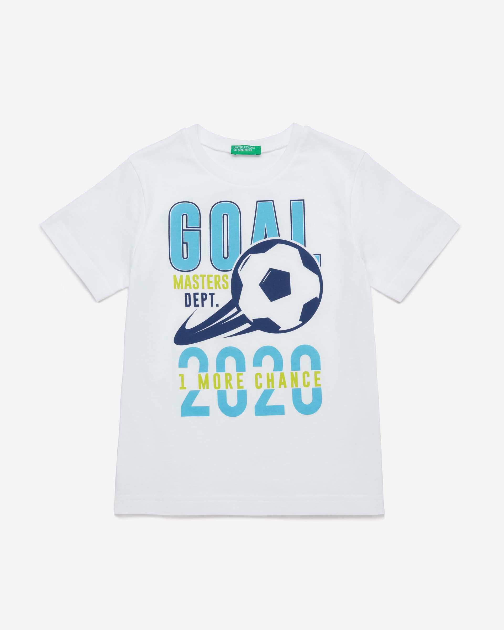 Купить 20P_3096C14NQ_101, Футболка для мальчиков Benetton 3096C14NQ_101 р-р 170, United Colors of Benetton, Футболки для мальчиков