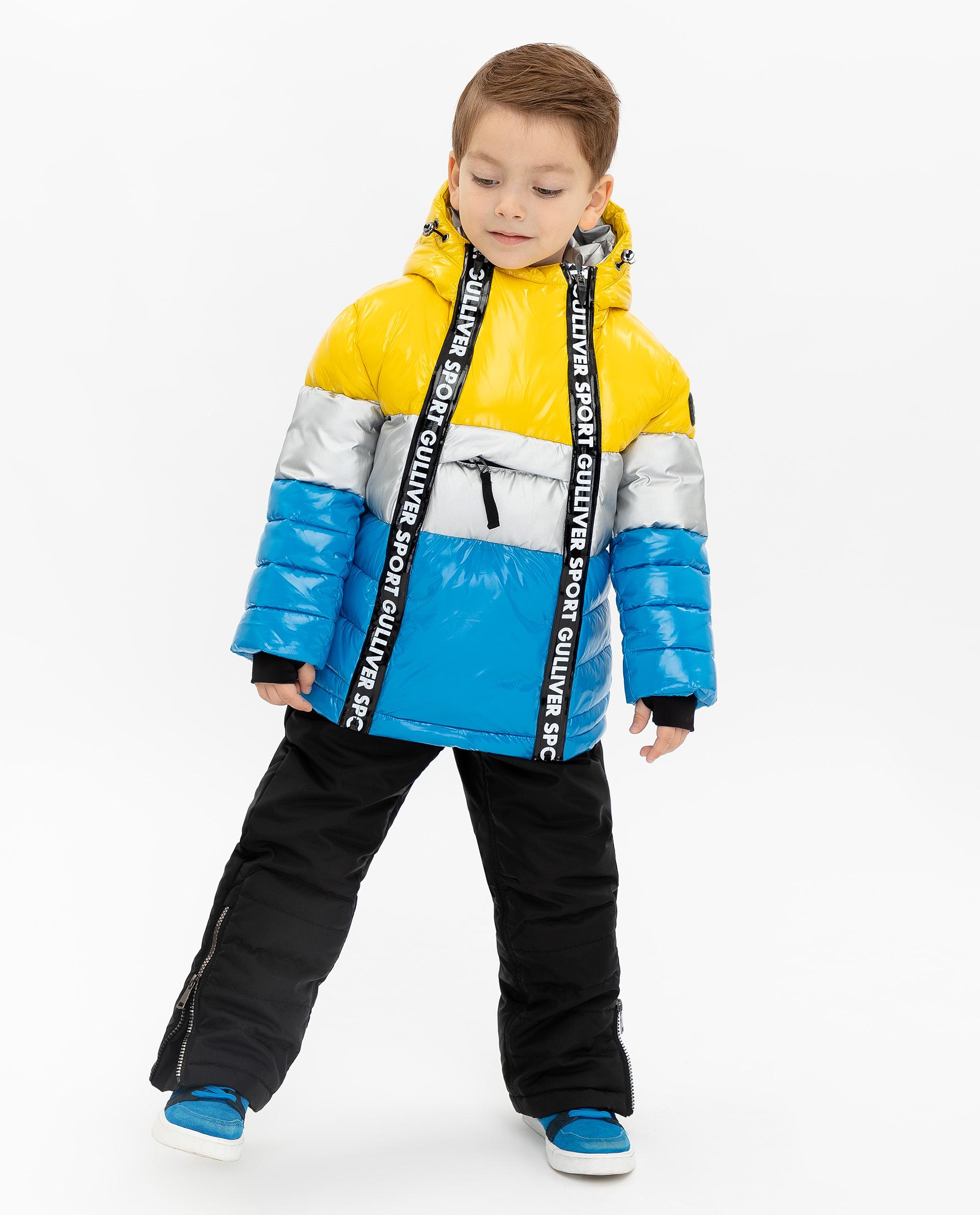 Купить 219FBC4101, Куртка для мальчиков Gulliver, цв. желтый, р.140,