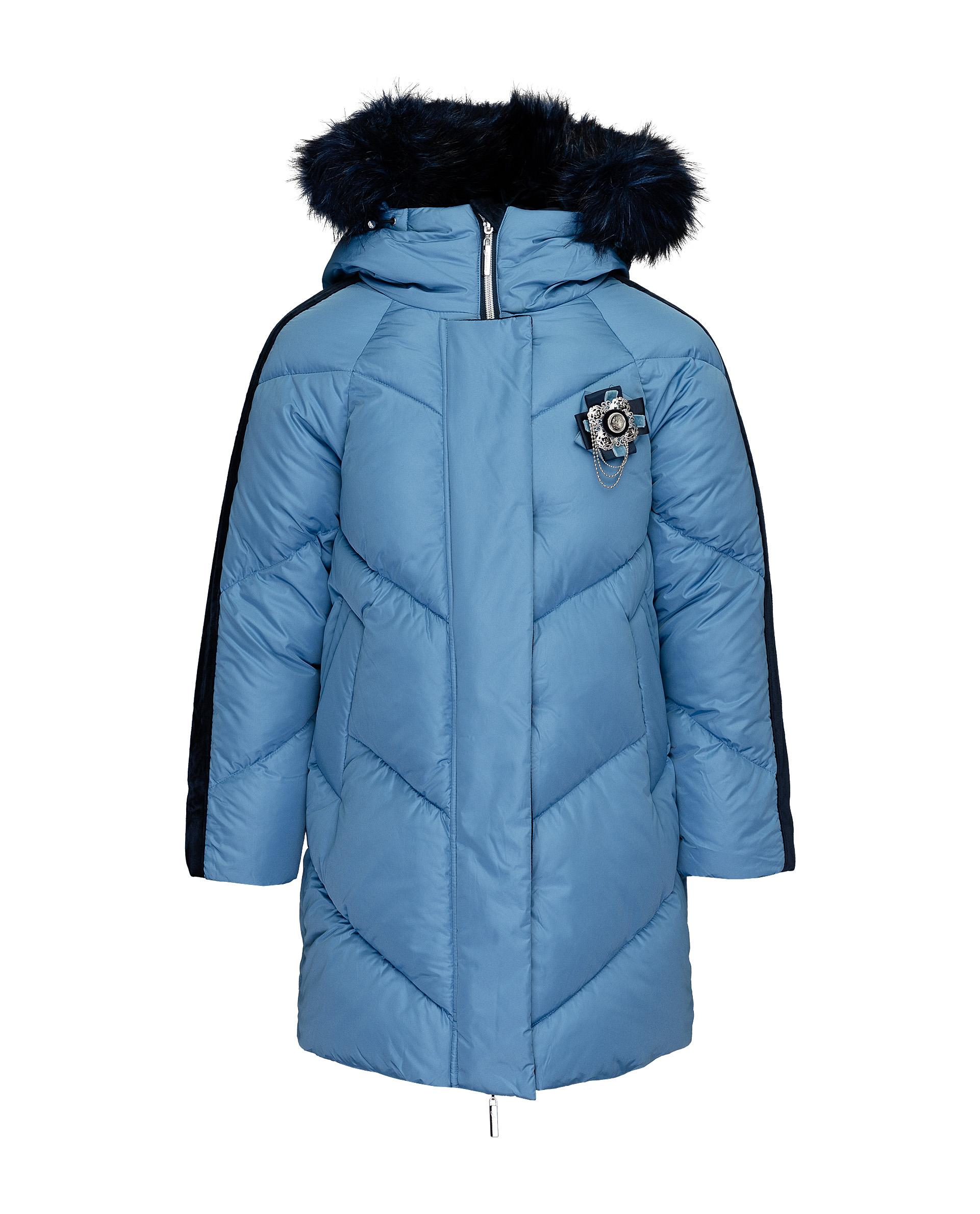 Купить 21909GJC4506, Пальто для девочек Gulliver, цв. синий, р.164,
