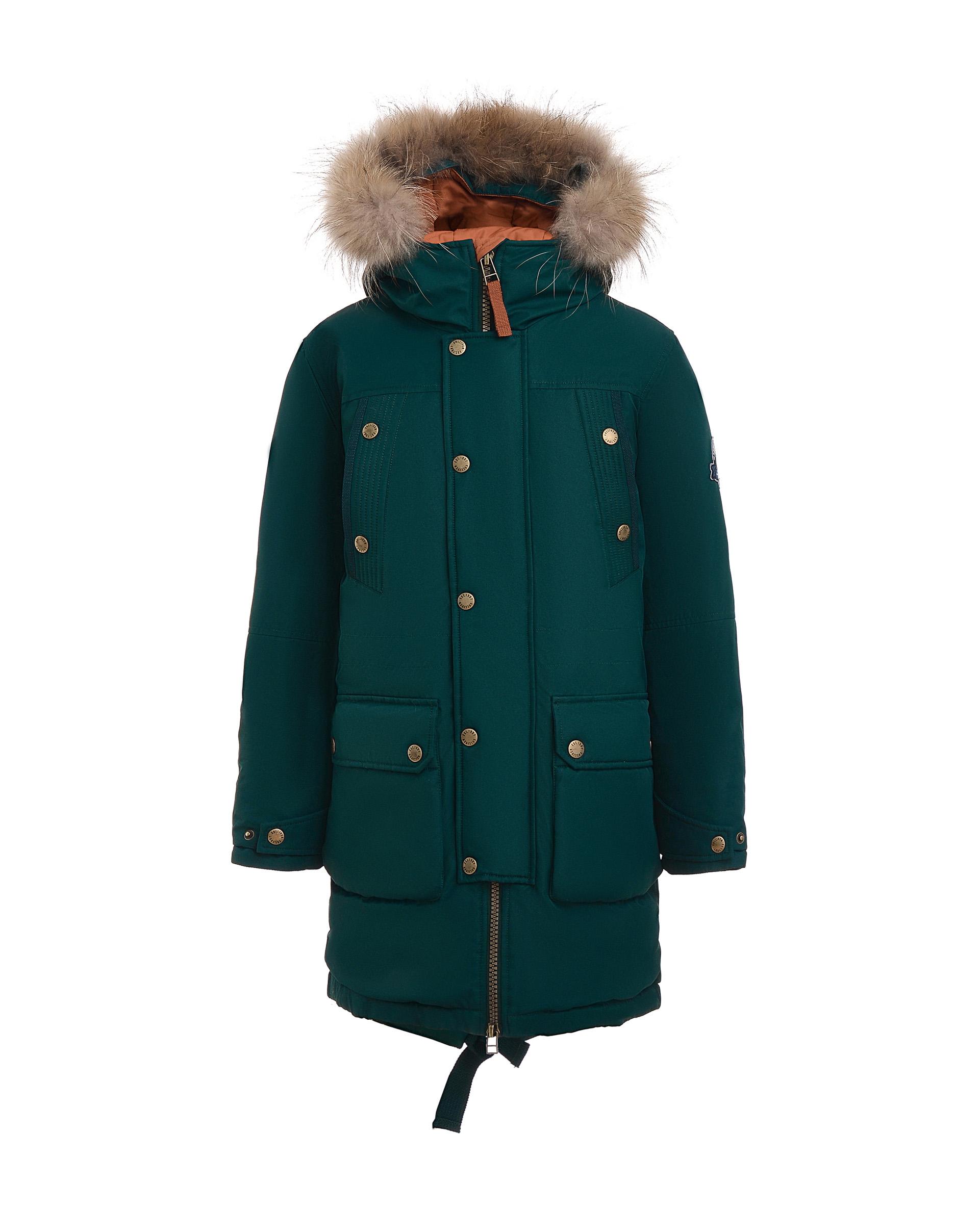 Пальто для мальчиков Gulliver, цв. зеленый, р.158