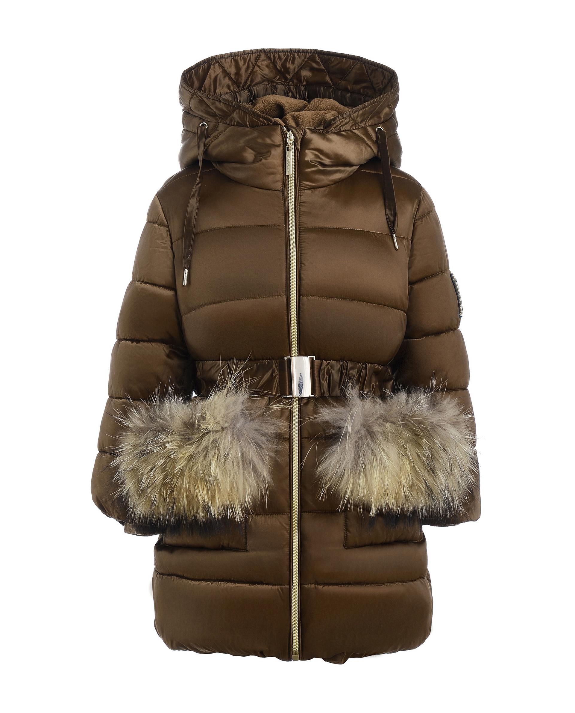 Купить 21902GMC4505, Пальто для девочек Gulliver, цв. бежевый, р.98,