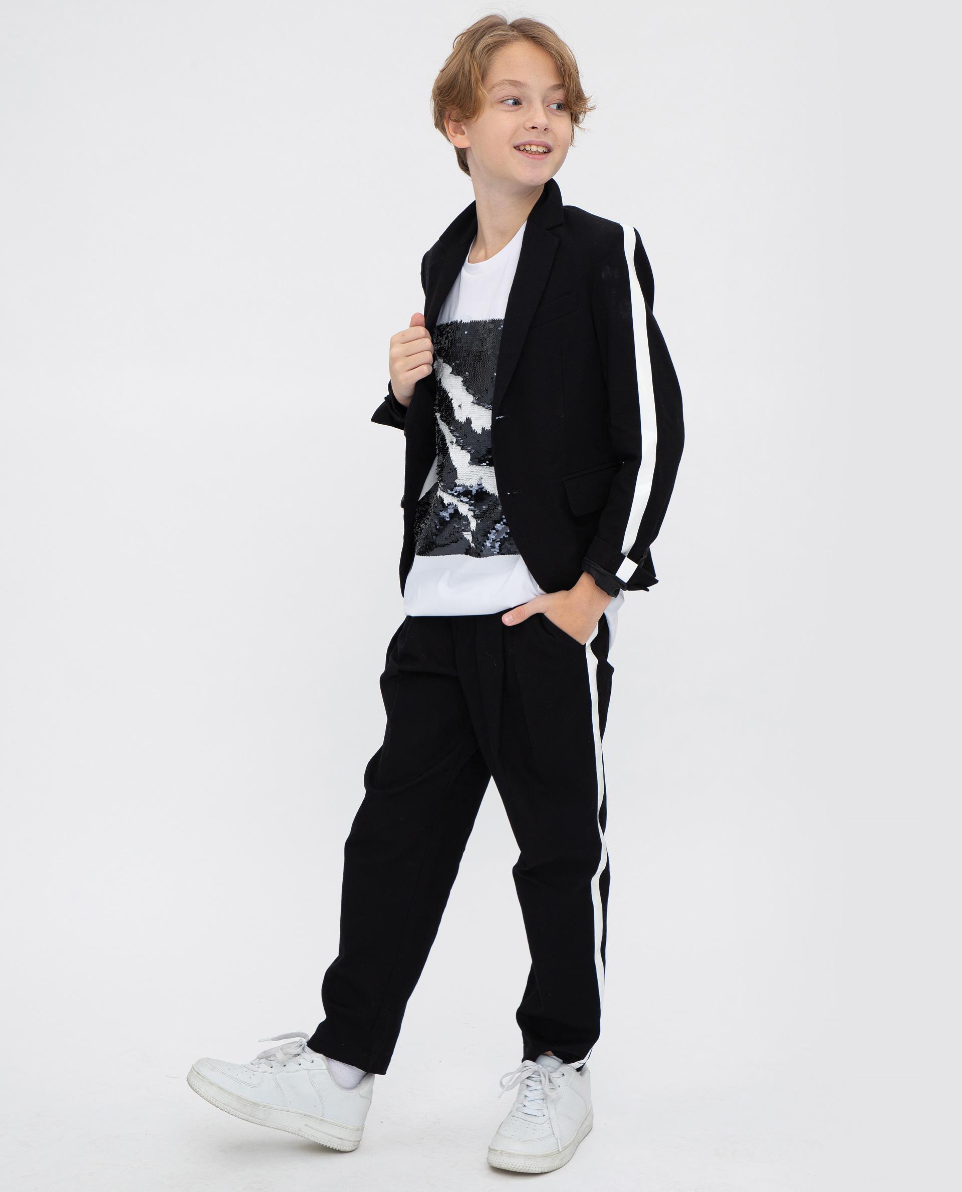 Пиджак для мальчиков Gulliver, цв. черный, р.146