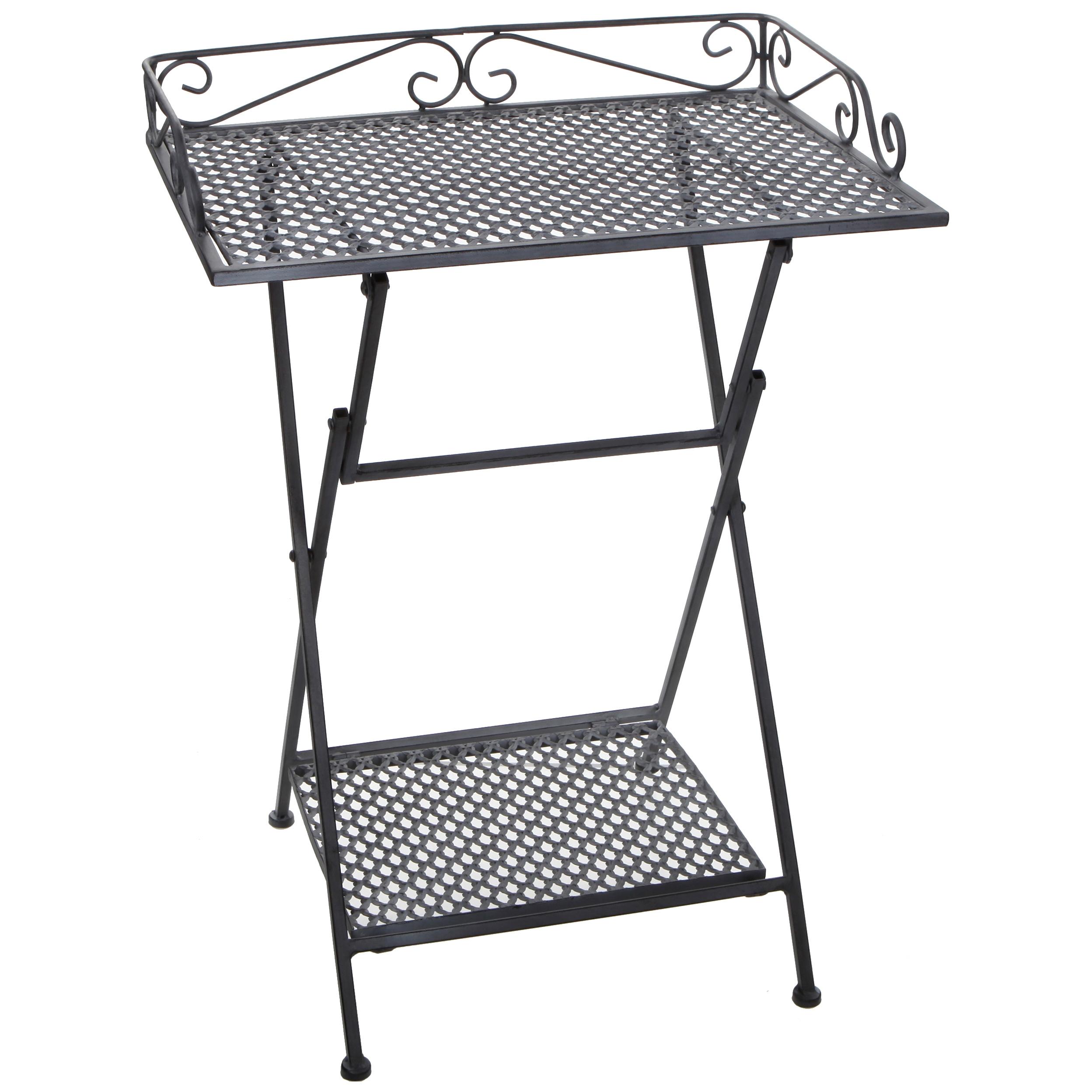 Стол для дачи Edelman 1023708 серый 50,5х39х67 см