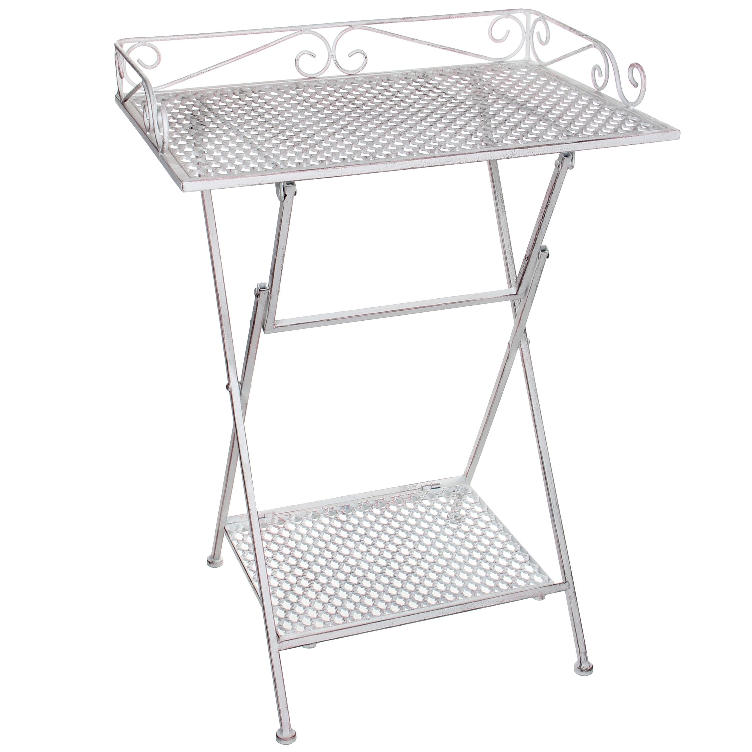 Стол для дачи Edelman 1023707 белый 50,5х39х67 см