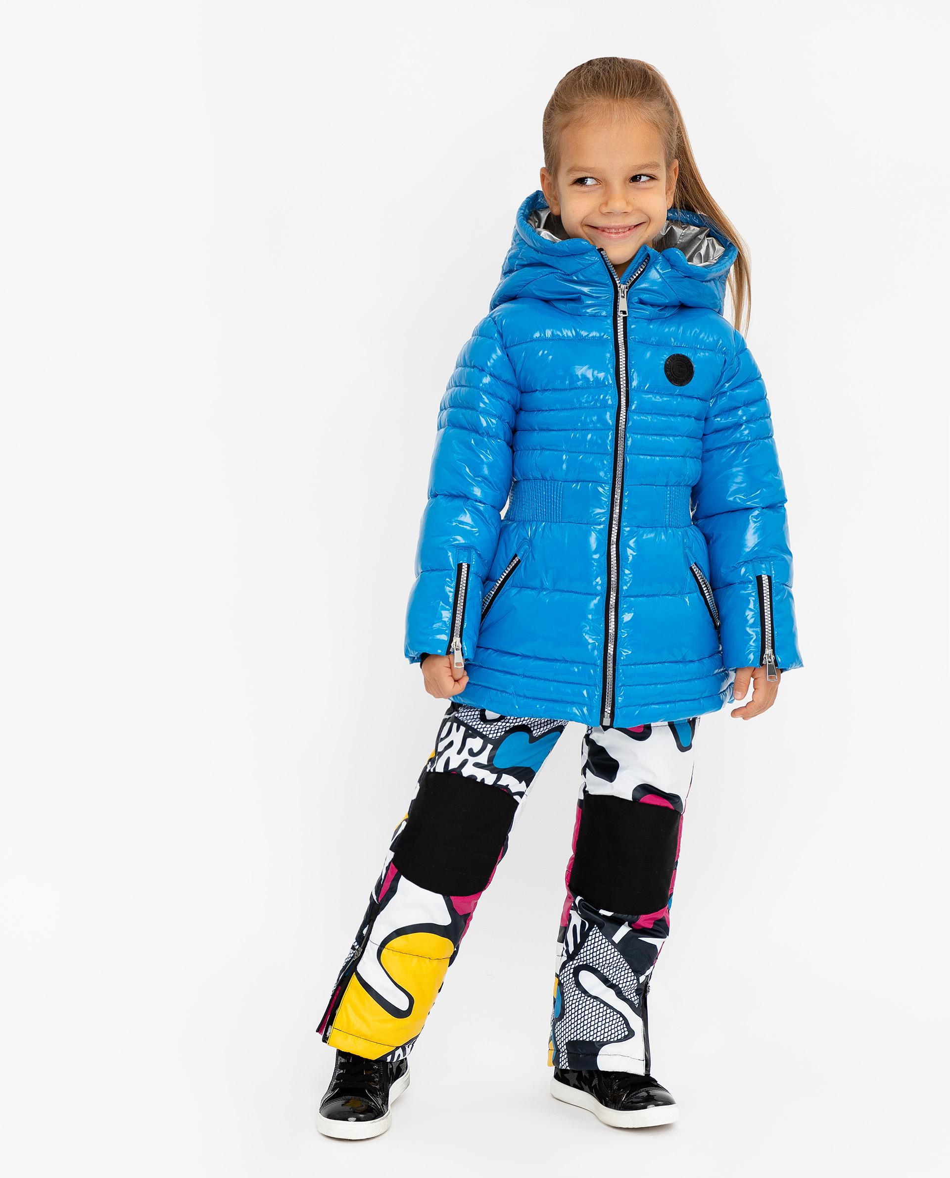 Купить 219FGC4103, Куртка для девочек Gulliver, цв. синий, р.140,