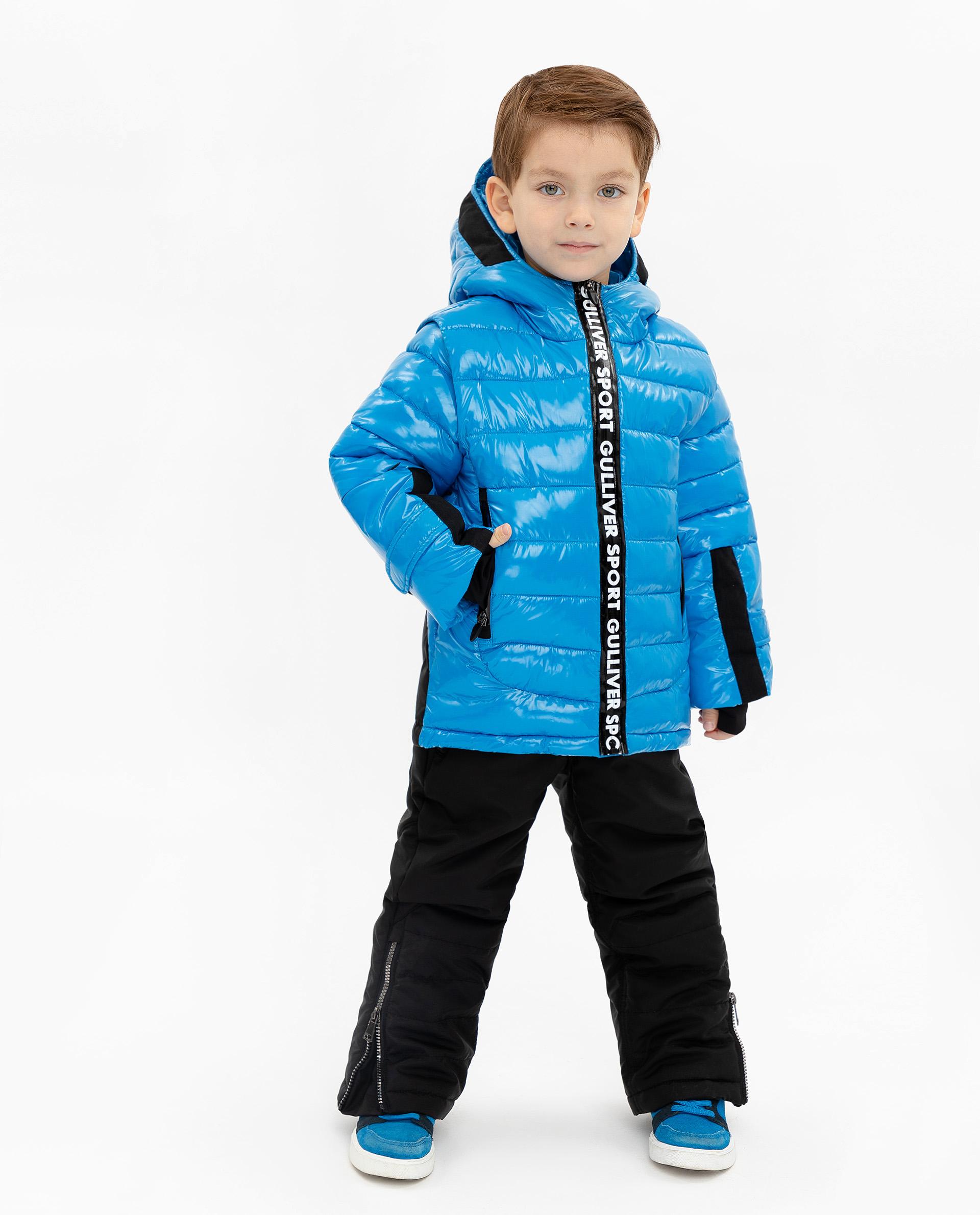 Купить 219FBC4102, Куртка для мальчиков Gulliver, цв. синий, р.140,