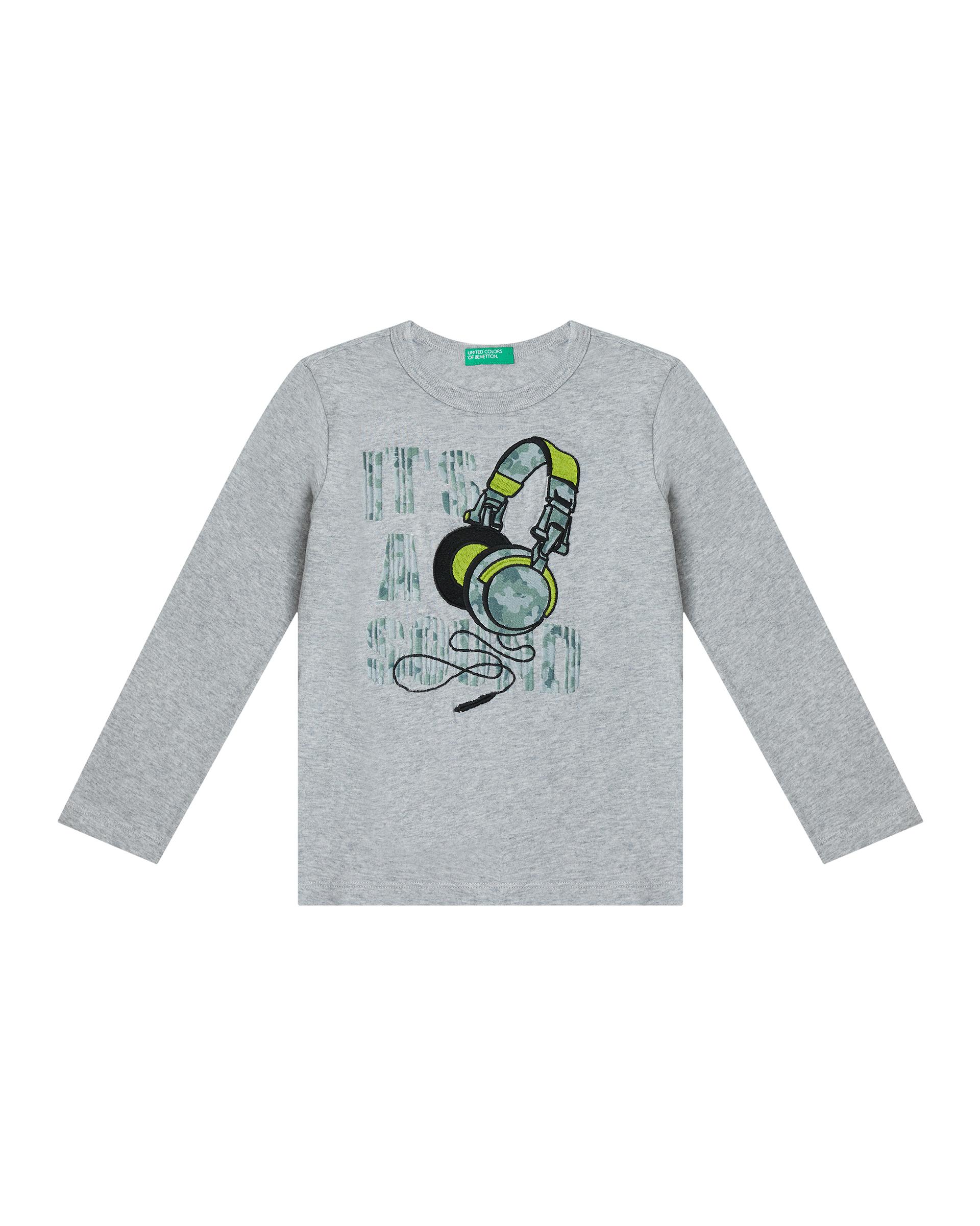 Купить 20P_3YR3C1AWP_501, Футболка для мальчиков Benetton 3YR3C1AWP_501 р-р 92, United Colors of Benetton, Кофточки, футболки для новорожденных