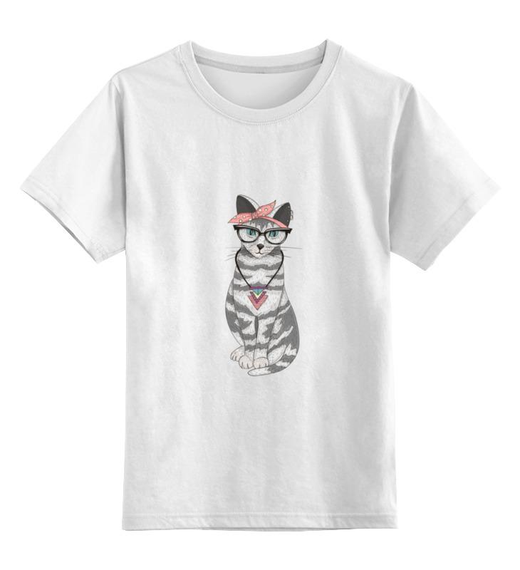 Купить 0000000705396, Детская футболка классическая Printio Мяу мау мау, р. 128,