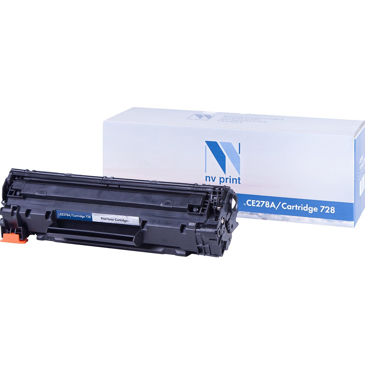 Картридж для лазерного принтера NV Print CE278A черный