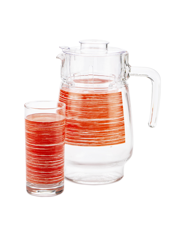 Набор питьевой Luminarc, Brush Mania red P7452