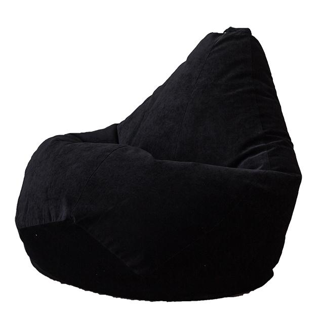 Кресло Мешок Груша Черный Микровельвет (XL, Классический)