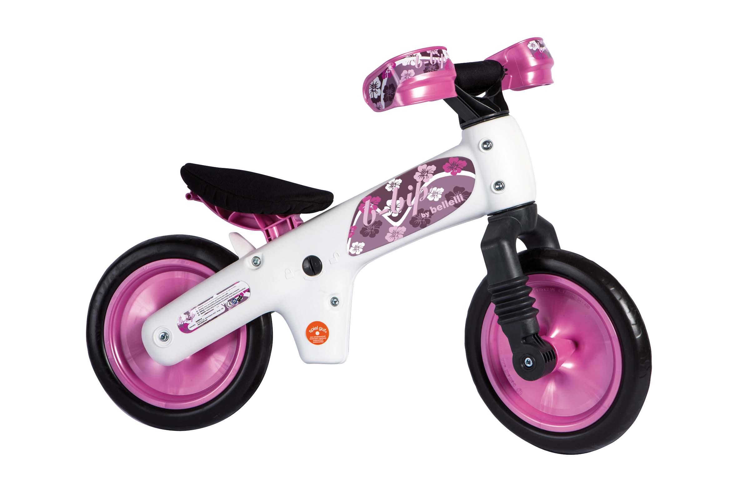 Детский беговел Bellelli b bip бело розовый