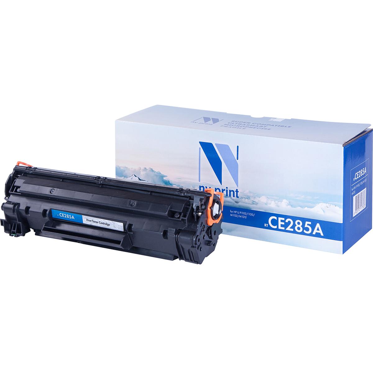Картридж для лазерного принтера NV Print CE285A черный
