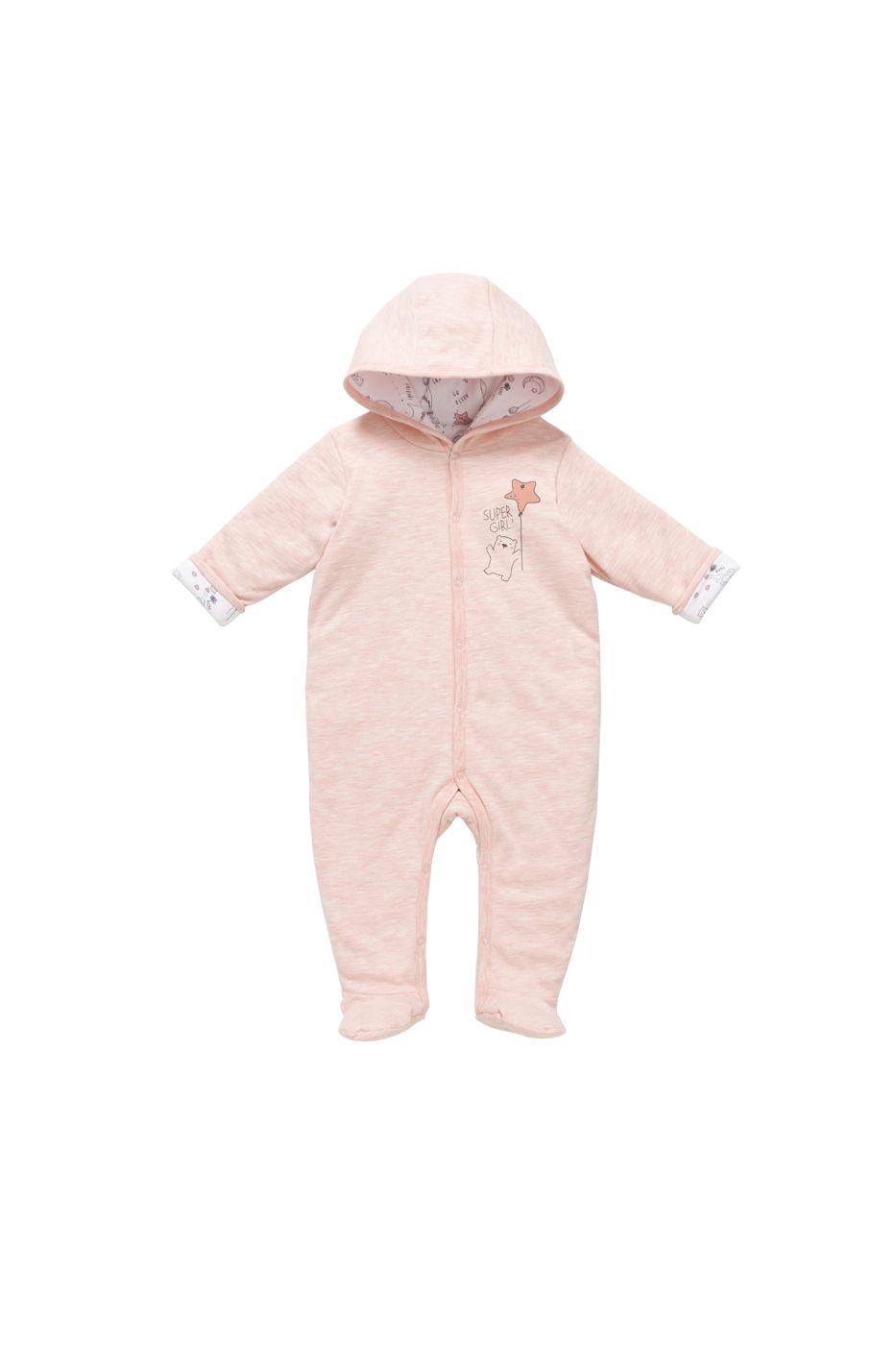 Купить AK-232D, Комбинезон утепленный детский artie, цв. розовый, р-р 74, Слипы для новорожденных