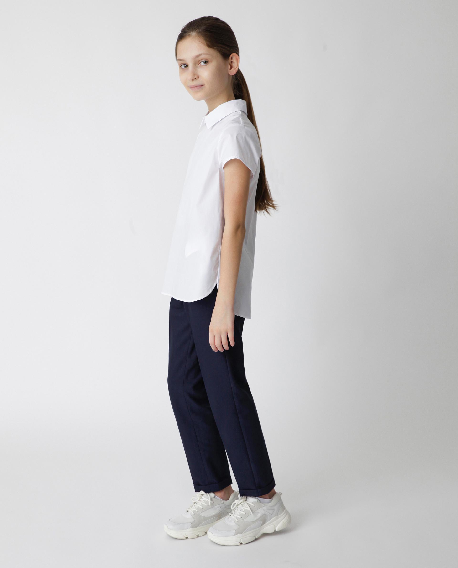 Белая блузка с коротким рукавом Gulliver, модель