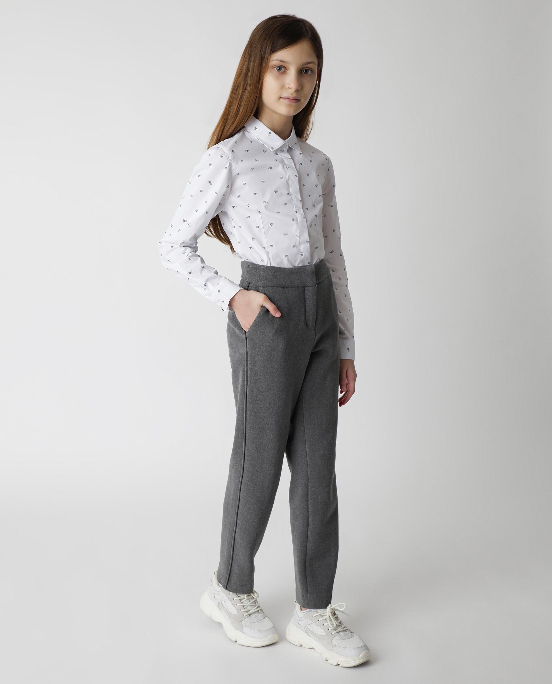 Купить Белая блузка с принтом Gulliver, модель 220GSGC2204, р. 170,
