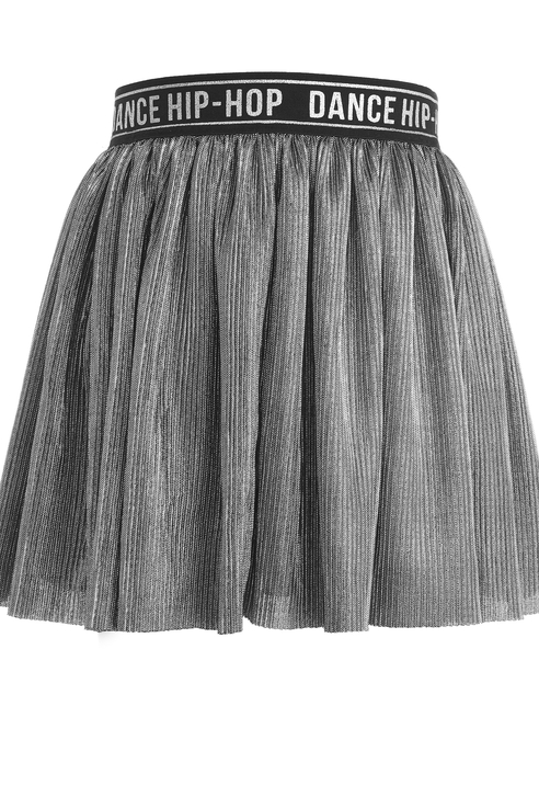 Юбка для девочки Gulliver, цв.серебряный, р-р 104 11903GMC5501