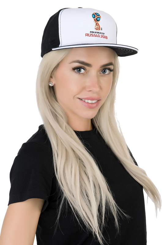 Бейсболка женская FIFA FIF57104 черная/белая.