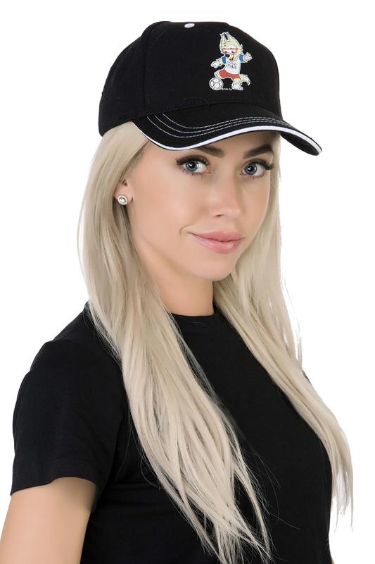 Бейсболка женская FIFA FIF41104 черная/белая.