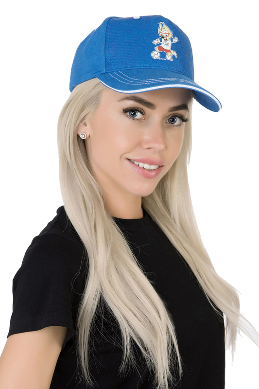 Бейсболка женская FIFA FIF41101 голубая/белая.