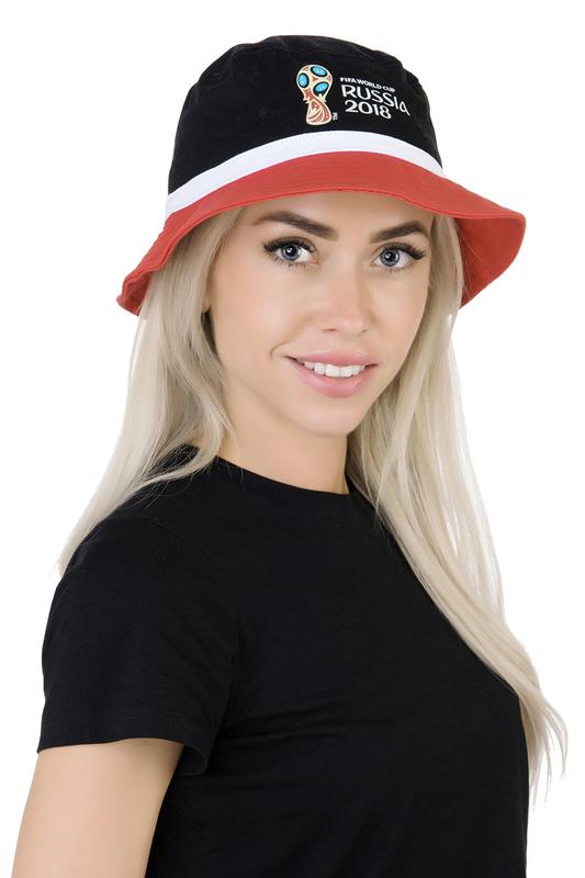 Панама женская FIFA FIF20105 черная/красная/белая.