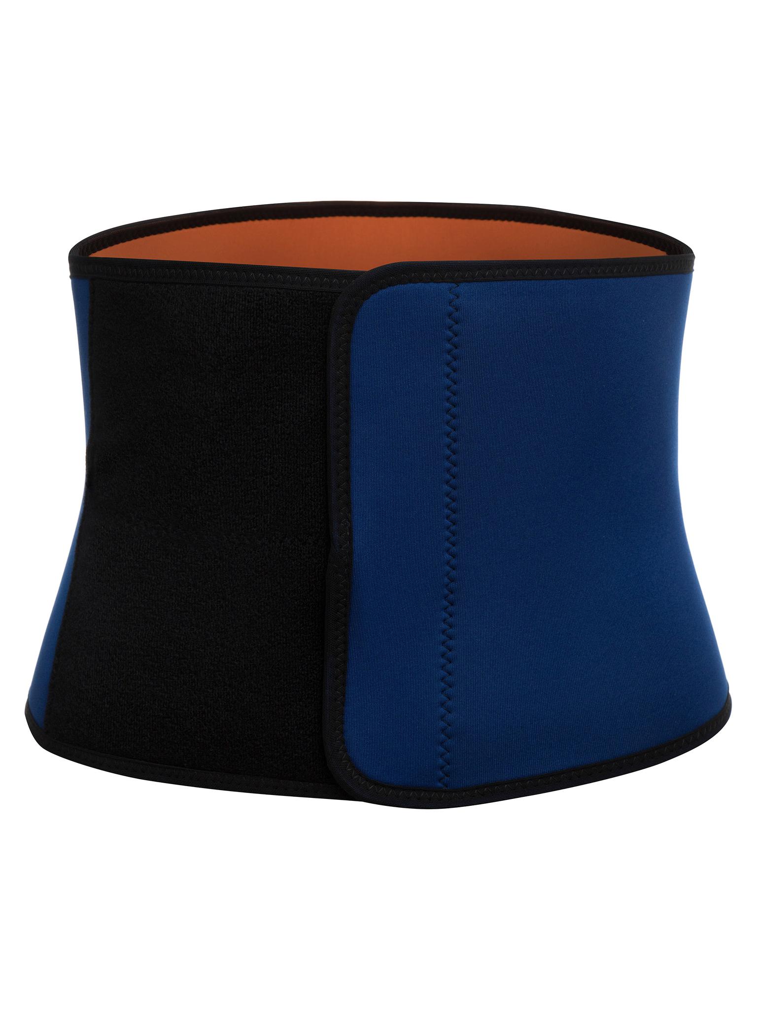 Пояс для похудения Lauftex черно синий, L