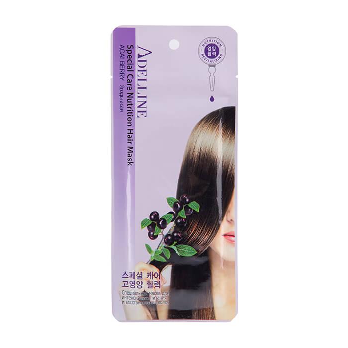 Маска для волос тканевая интенсивное питание и восстановление Adelline ягоды асаи 30г