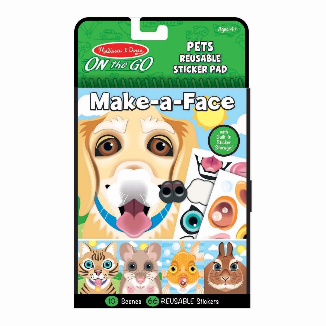 Купить Набор многоразовых стикеров Melissa & Doug Создай мордочку Домашние животные,