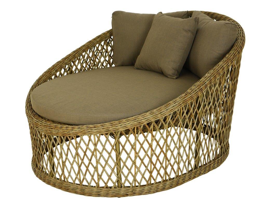 Дачный плетёный диван   кушетка ФЕС,