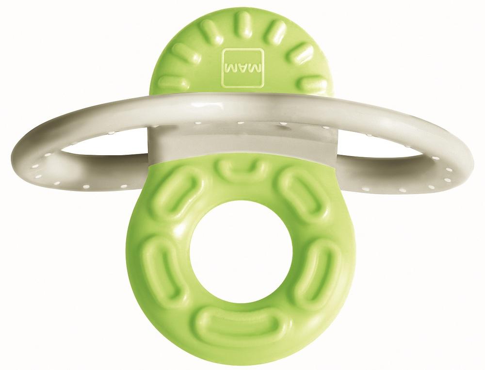 Купить Мини-прорезыватель MAM Bite & Relax Phase 1 для передних зубов, зеленый, 2+ мес.,