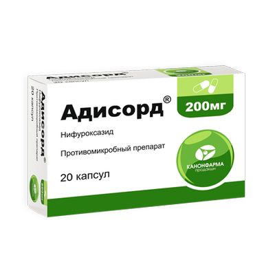 Купить Адисорт, Адисорд капсулы 200 мг 20 шт., Канонфарма продакшн ЗАО