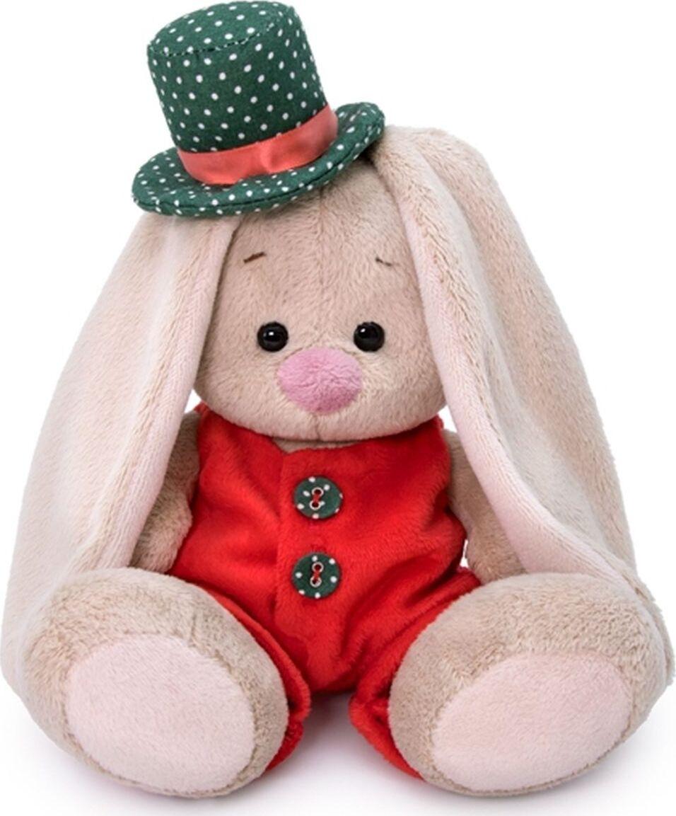 Купить Мягкая игрушка BUDI BASA SidX-349 Зайка Ми в красном меховом комбинезоне 15см, Мягкие игрушки животные
