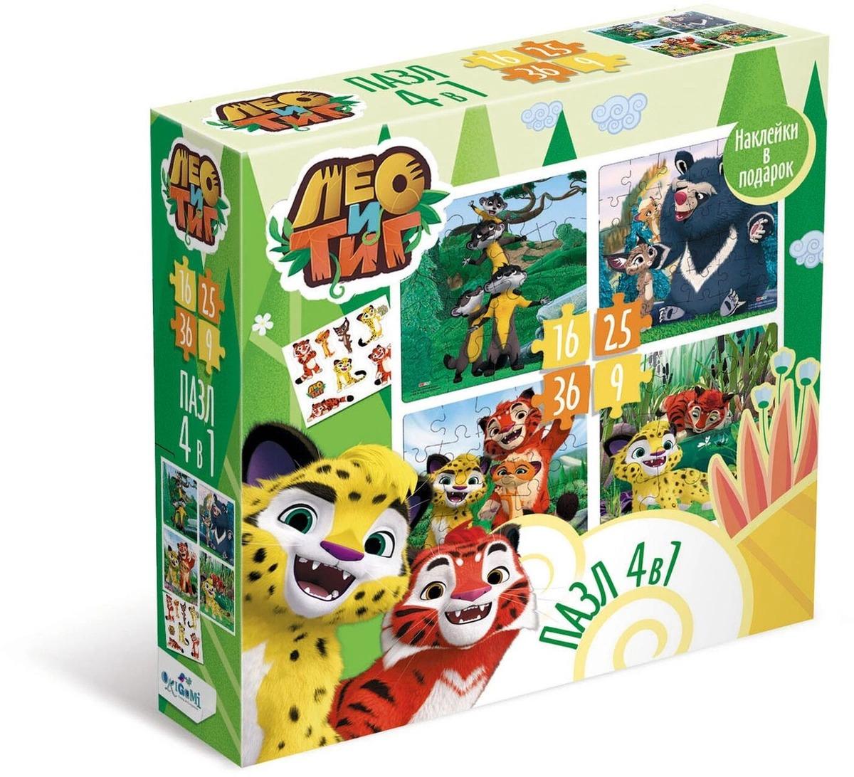 Купить Пазл Origami Лео и Тиг Лето в тайге, 4 в 1, Пазлы