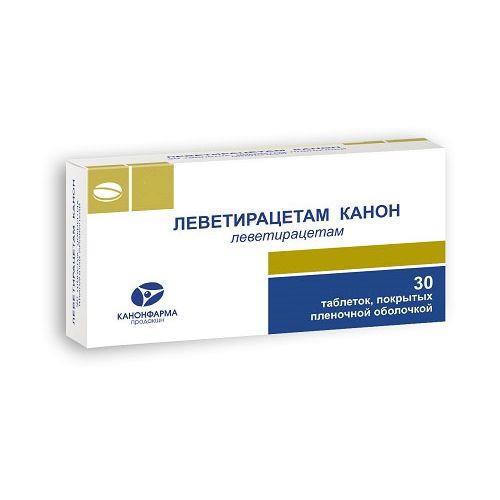 Леветирацетам-Канон таблетки, покрытые пленочной оболочкой 1000 мг 30 шт.