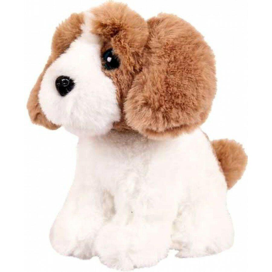 Купить Мягкая игрушка Abtoys Собачка белая с рыжим, 15см, Мягкие игрушки животные