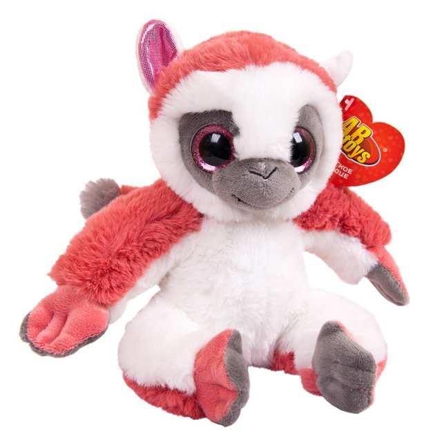 Купить Мягкая игрушка Abtoys Лемур темно-розовый, 17см,