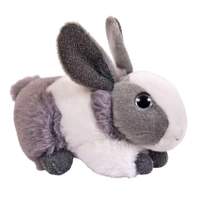 Купить Мягкая игрушка Abtoys Кролик серый, 15 см, Мягкие игрушки животные
