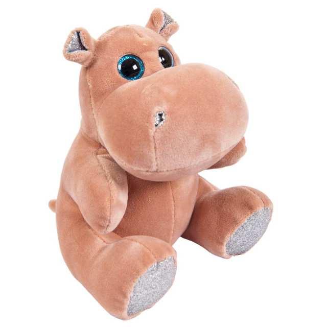 Купить Мягкая игрушка ABtoys Бегемотик розовый 15 см, Мягкие игрушки животные