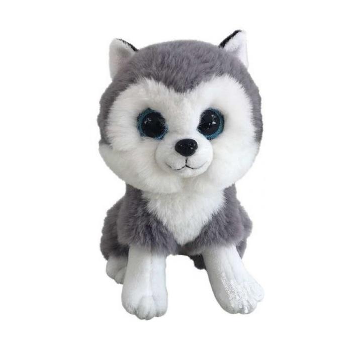 Купить Мягкая игрушка Abtoys Собачка Хаски, 15 см, Мягкие игрушки животные