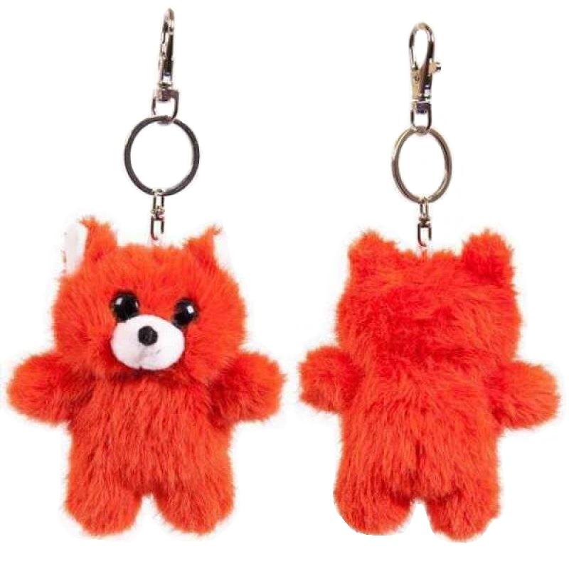 Купить Брелок Junfa Toys Флэтси Мини, Лиса с подвесом 9, 5 см, ABtoys,