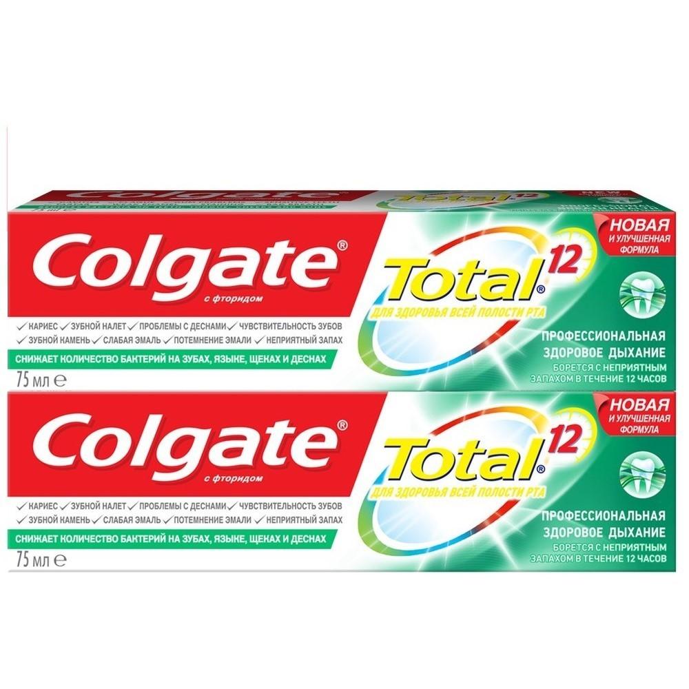 Зубная паста Colgate Total 12 Здоровое дыхание 2 шт