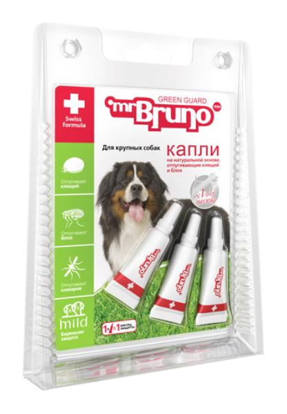 Капли для крупных собак против блох, клещей,