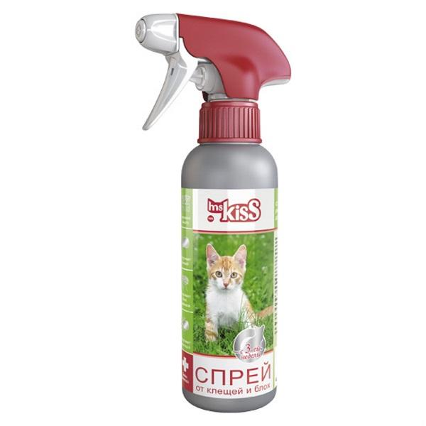 Спрей для кошек против блох, вшей, власоедов,
