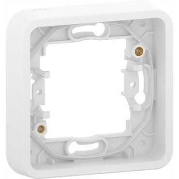 Рамка Schneider Electric Mureva Styl 1-ая без винтов IP55 Белая