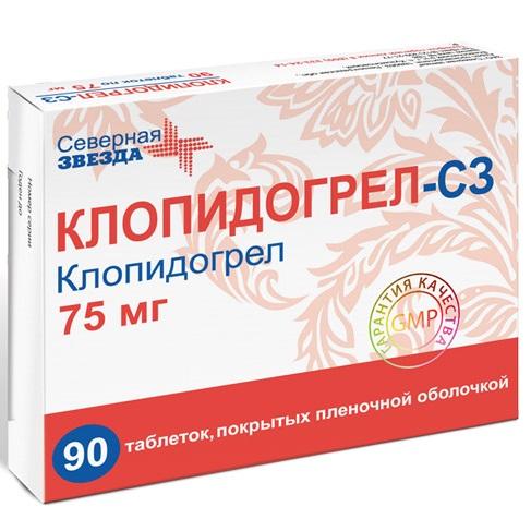 Купить Клопидогрел таблетки 75 мг 90 шт., Северная Звезда