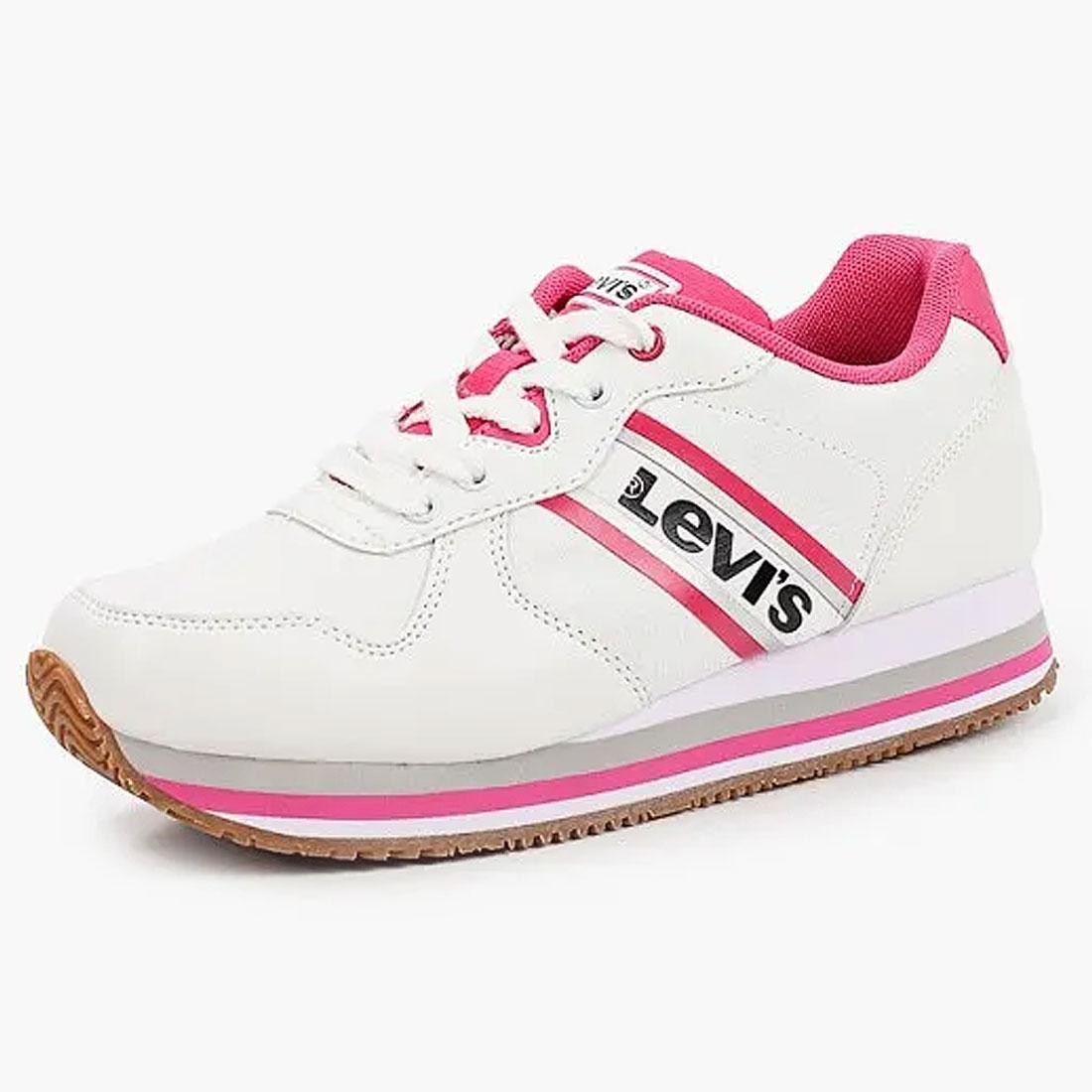 Купить 56539, Кроссовки детские Levi's Kids, цв. белый р.38,