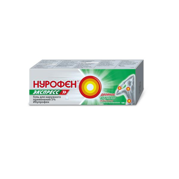 Нурофен Экспресс гель 5% 100 г